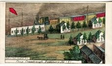95x007.1 - Camp Chesebrough, Baltimore, MD 1, Civil War Illustrations from Winterthur's Magnus Collection
